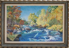 Autumnal Sierras Babbling Brook Landscape