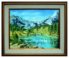 Serene Sierra Mountain Lake Landscape