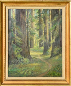 Mid Century California Redwood Forest Landscape