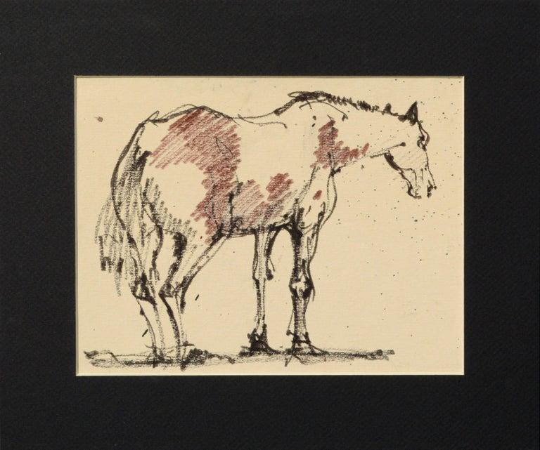 Laurence Sisson Animal Art - Mustang Horse Drawing