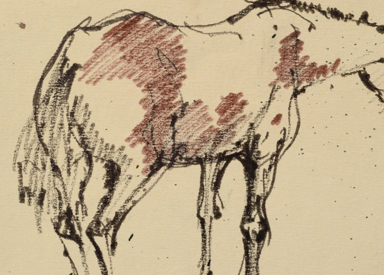 Mustang Horse Drawing - American Impressionist Art by Laurence Sisson