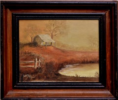 Autumnal Country Cabin Landscape