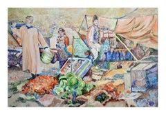 The Oriental Market Genre Painting