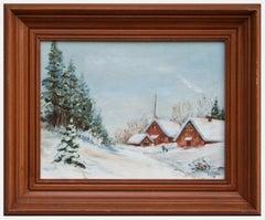 Mountain Chapel in Winter Landscape