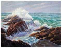 Crashing Waves - California Seascape by Lee Ervast