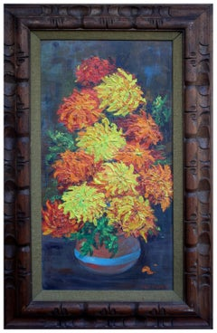 Chrysanthemums - Mid Century Floral Still Life