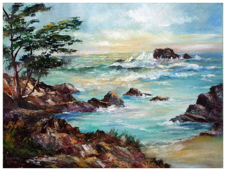 Willard Little Landscape Painting - Big Sur Rocky Seascape