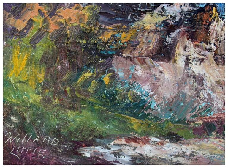 Big Sur Rocky Seascape - Gray Landscape Painting by Willard Little