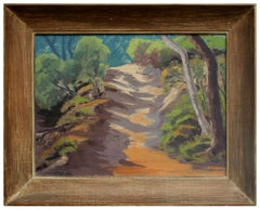 Mid Century Landscape -- Pathway Through the Forest