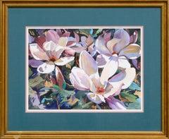 """""""Magnolia Blossoms"""" Lithographic Print"""
