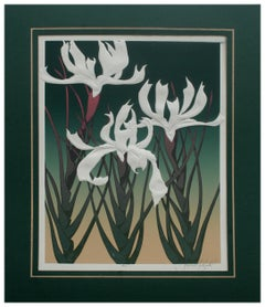 Three Japanese Irises Serigraph