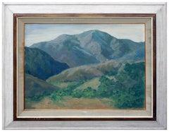 Mid Century California Hillside Landscape