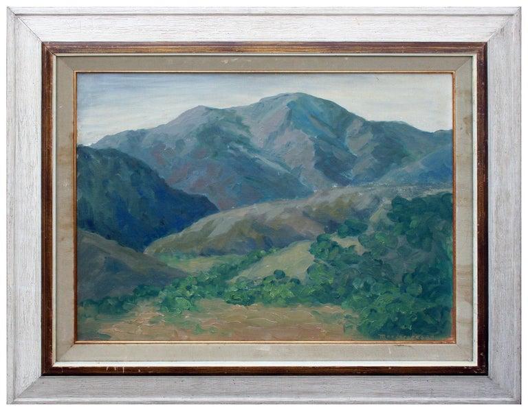 Mae Jorgensen Landscape Painting - Mid Century California Monterey Hillside Landscape