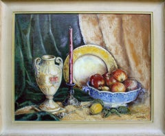 """Antiques and Apples"" Mid Century Still Life"