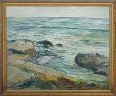 San Diego Impressionist Seascape by Georgia Crittenden Bemis 1939