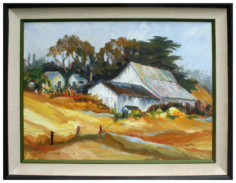 Faye Russo Landscape Painting - California Barn Landscape