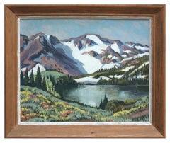 Midcentury California Mountain Landscape