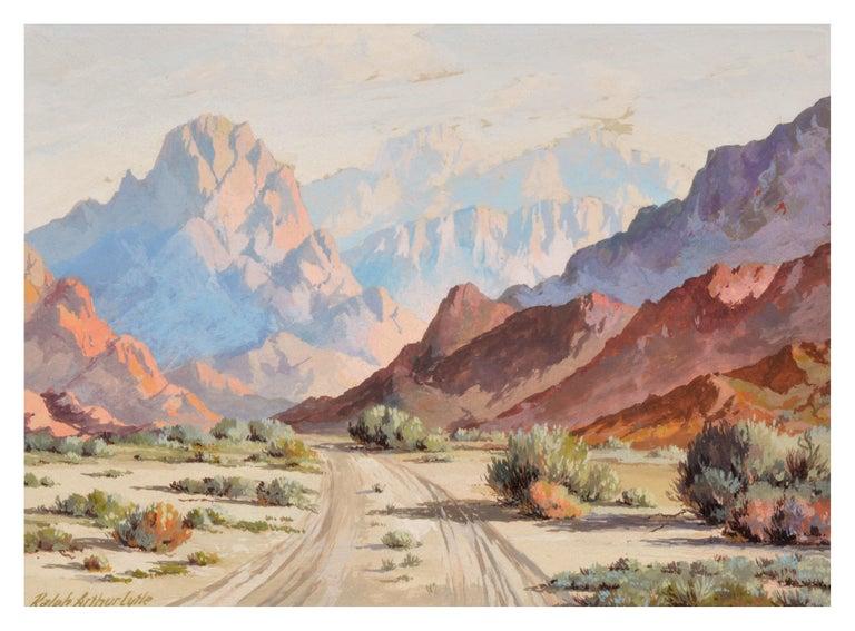 Ralph Arthur Lytle  Landscape Painting - Mid Century Palm Springs Desert Landscape