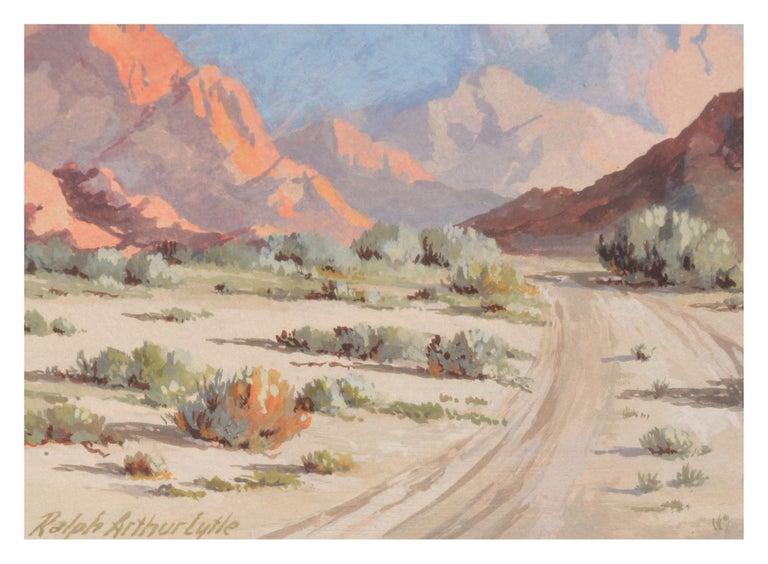 Mid Century Palm Springs Desert Landscape - Beige Landscape Painting by Ralph Arthur Lytle