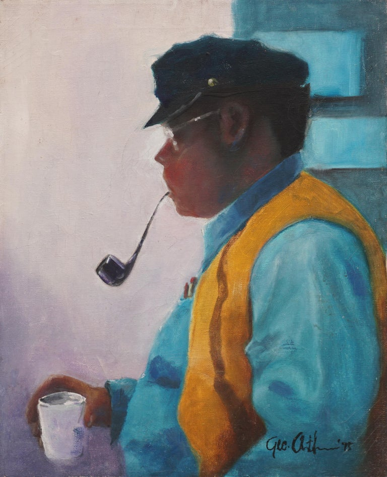 George Arthur Figurative Painting - Bay Area Figurative Portrait of Artist Stan Fullerton