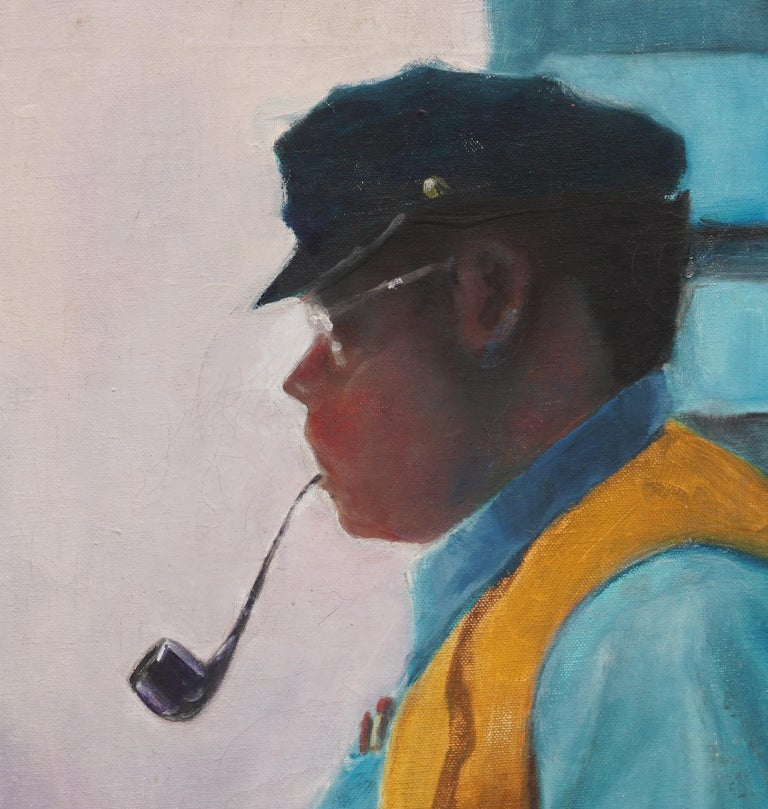 Bay Area Figurative Portrait of Artist Stan Fullerton  - Painting by George Arthur