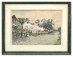 Little Orchard in Bloom Country Landscape