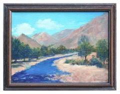 Southern California Plein Air Mountain Stream Landscape
