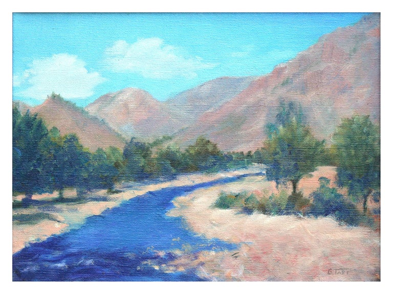Southern California Plein Air Mountain Stream Landscape - Painting by G. Taft