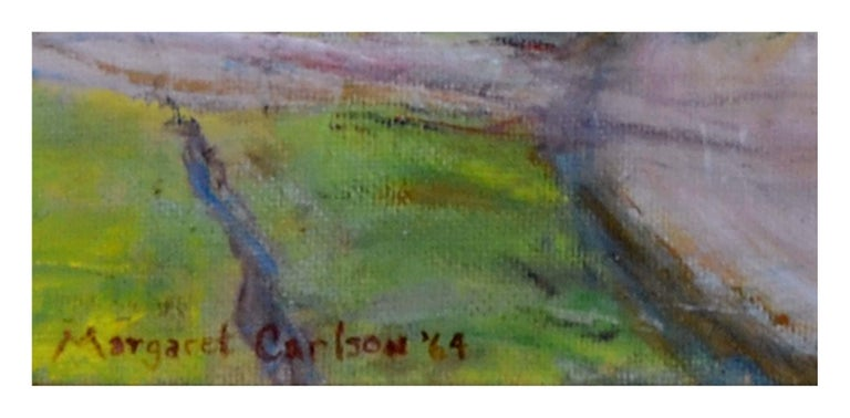 Mid Century Mill Valley, California Landscape - American Impressionist Painting by Margaret Carlson