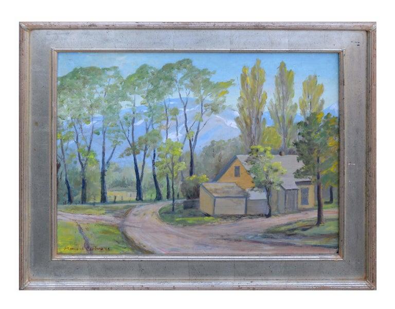 Margaret Carlson Landscape Painting - Mid Century Mill Valley, California Landscape