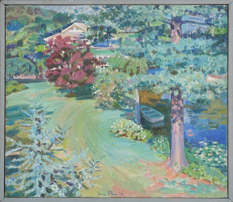 S. Starr Landscape Painting - View From the Studio Landscape