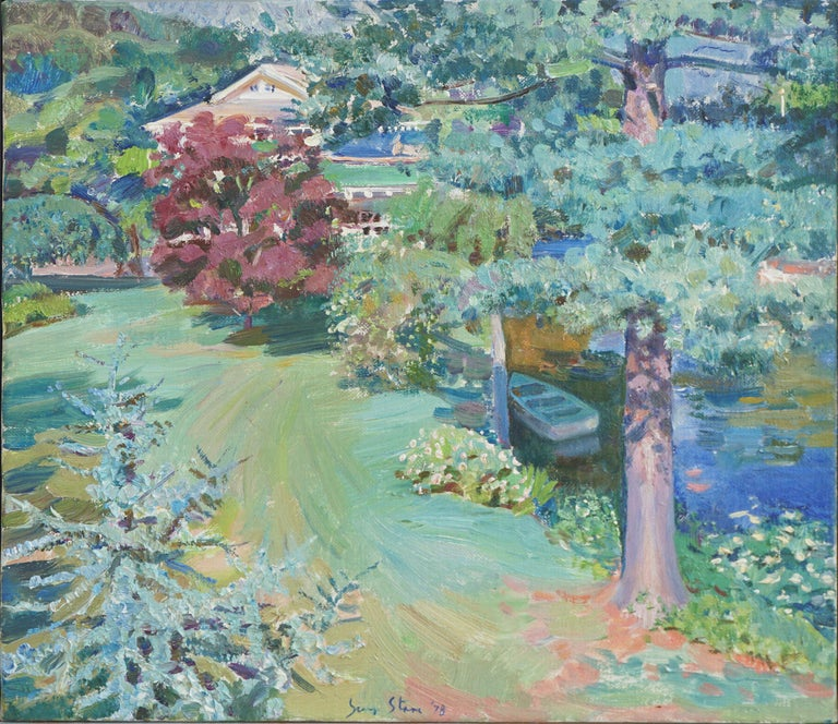 View From the Studio Landscape - Painting by S. Starr