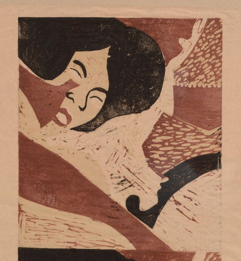 Sleeping Woman  - Print by Paula Walzer