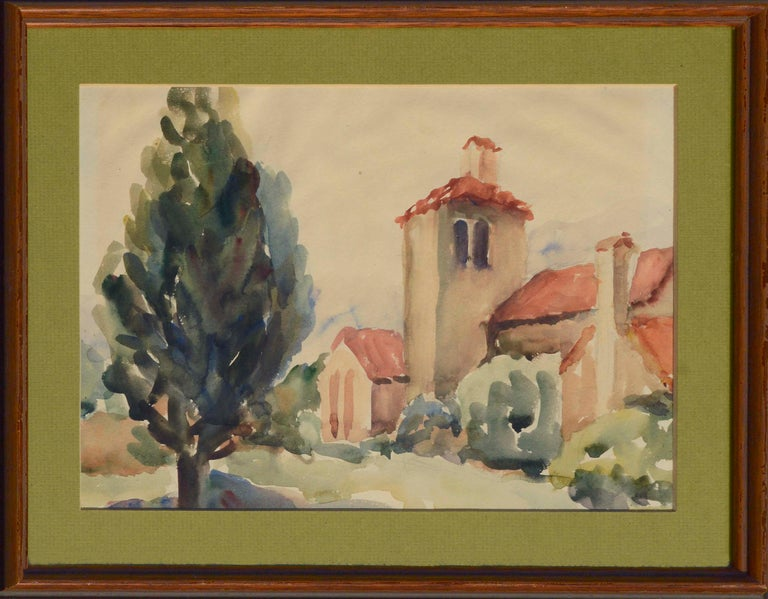 Unknown Landscape Art - Mid-Century California Mission Landscape
