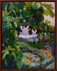 California Fig Tree & Flowers Landscape