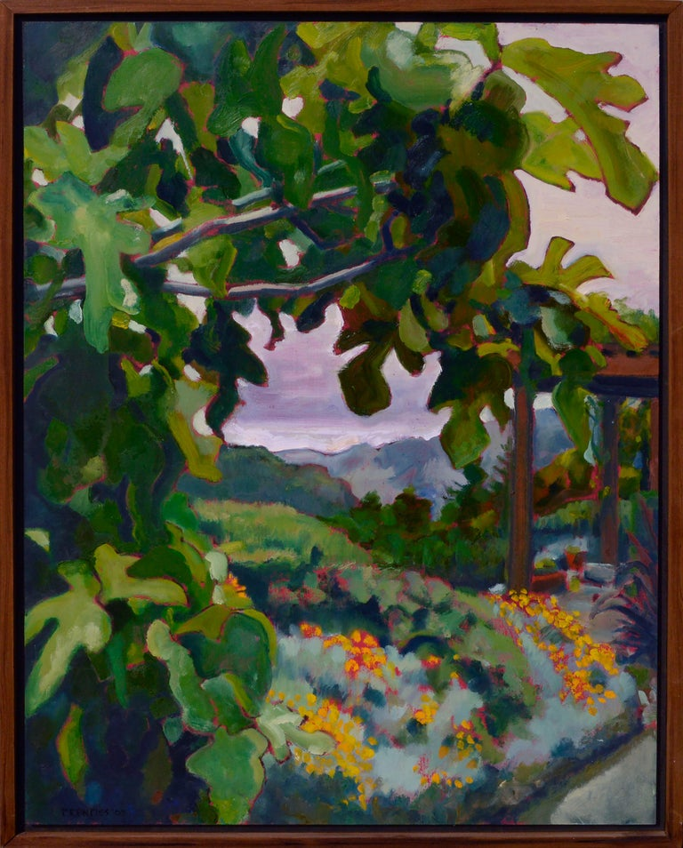 Charles Prentiss  Landscape Painting - California Fig Tree & Flowers Landscape