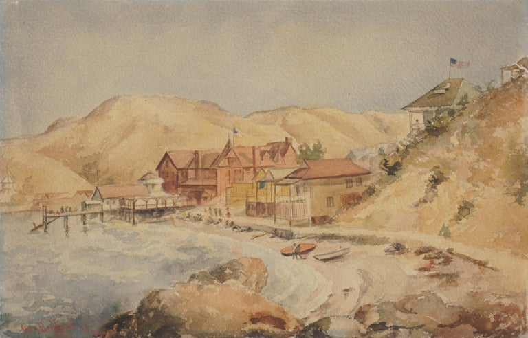 Guy Bedford Landscape Painting - Late 19th Century Avalon, Catalina Island