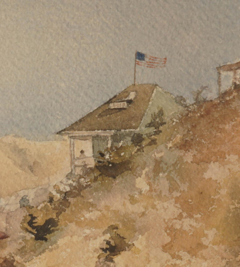 Late 19th Century Avalon, Catalina Island  - American Impressionist Painting by Guy Bedford