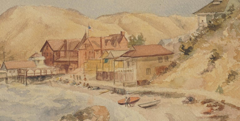 Late 19th Century Avalon, Catalina Island  - Painting by Guy Bedford