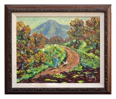 Mt. Tamalpais in Autumn Impasto Landscape