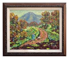 Mid Century Mt. Tamalpais in Autumnal Landscape