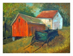 The Country Homestead and Wagon Landscape