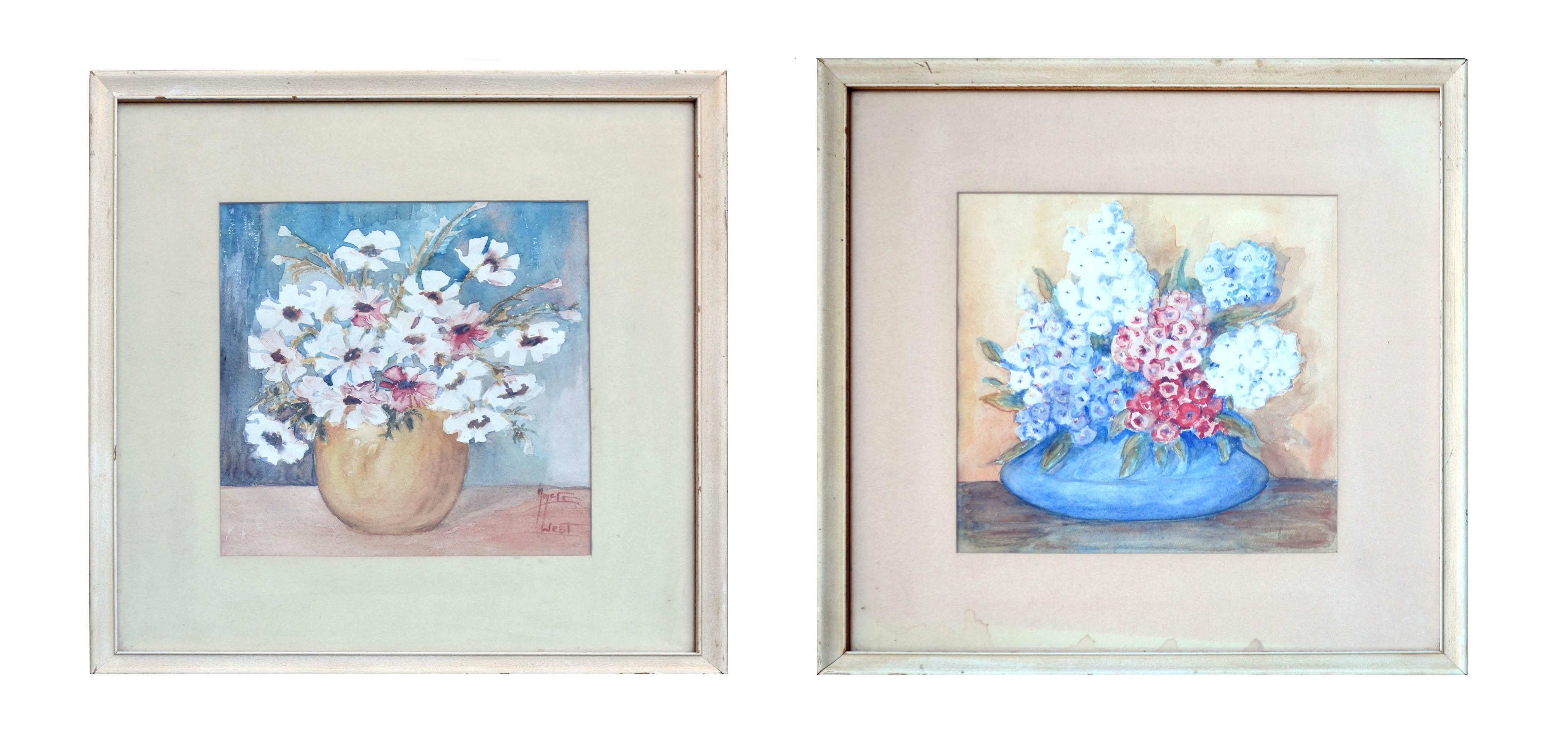 Pair of Mid Century Floral Still Lifes