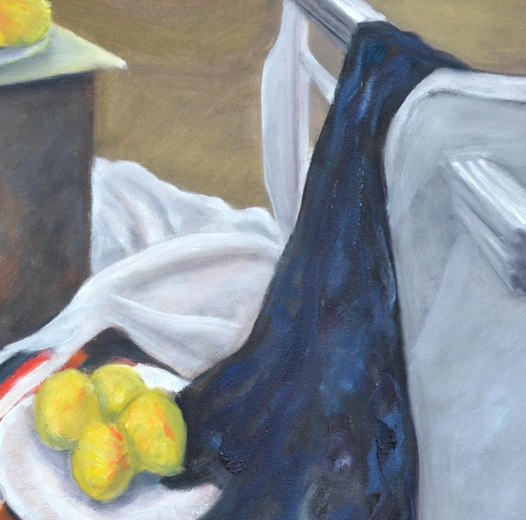 Still Life with Lemons  - Gray Interior Painting by James Pollock