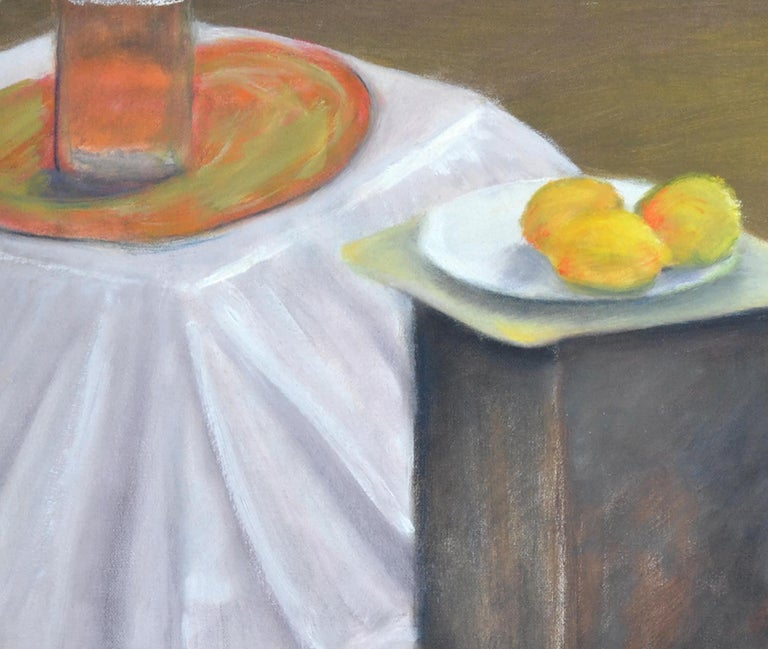 Still Life with Lemons  - American Impressionist Painting by James Pollock