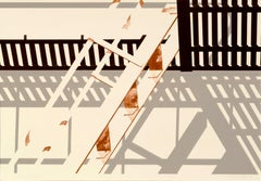 S.F. Fire Escape - Geometric Pattern Lithograph