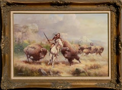 Buffalo Hunt with Rifle