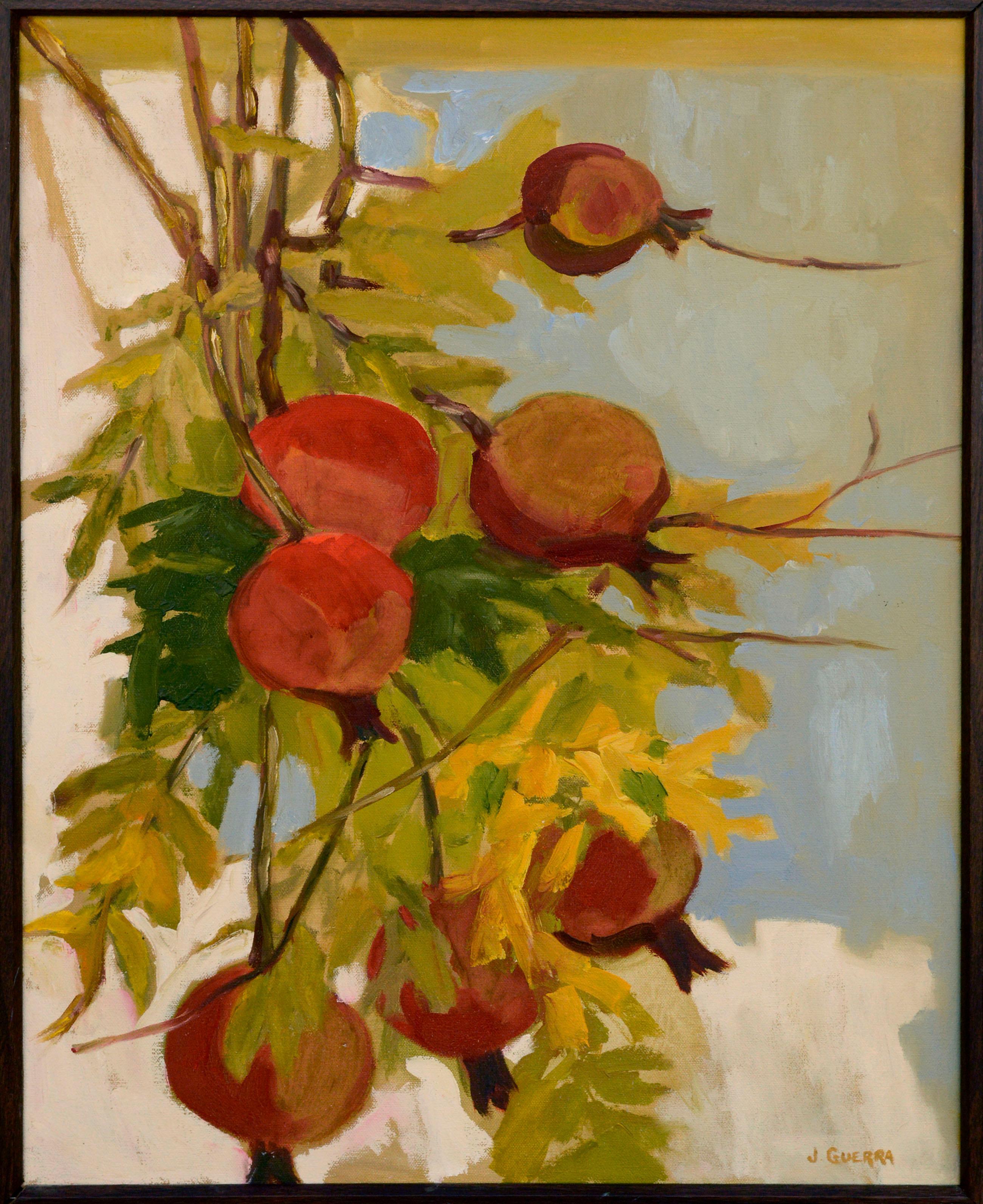 Pomegranate Tree Botanical Still Life