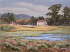 House and Boat by the Pond - Landscape