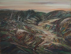 California Plein Air East Bay Hills Landscape -- Waning Light